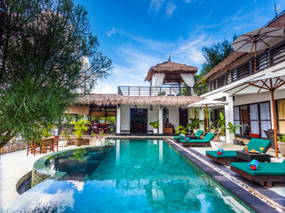 pool gili trawangan of lombok hotels